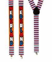 Carnavalskleding verkleed bretels nederland rood wit blauw arnhem