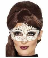Carnavalskleding wit kanten oogmasker dames arnhem