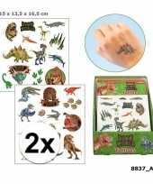 Carnavalskleding x dinosaurus plak tattoos jongens dino world arnhem