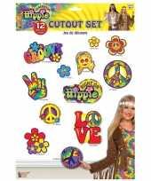 Carnavalskleding x hippie thema decoratie borden arnhem