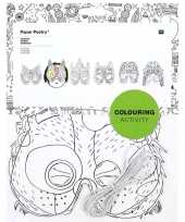 Carnavalskleding x knutsel papieren maskers om te kleuren kinderen arnhem