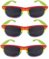 Carnavalskleding x regenboog feest brillen volwassenen arnhem 10157866