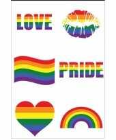 Carnavalskleding x regenboog pride kleuren plak tattoos arnhem