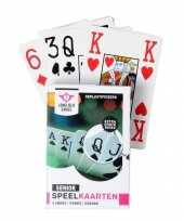 Carnavalskleding x senior speelkaarten plastic poker bridge kaartspel arnhem