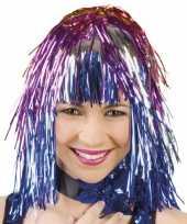 Carnavalskleding x stuks lurex feest damespruik gekleurd arnhem 10295520