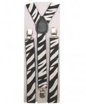 Carnavalskleding zebra bretels volwassenen arnhem