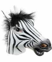 Carnavalskleding zebra masker arnhem