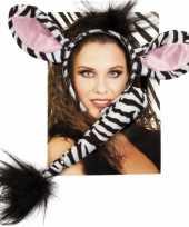 Carnavalskleding zebra verkleed setje arnhem