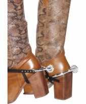 Carnavalskleding zilveren cowboy sporen arnhem