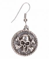 Carnavalskleding zilveren oorbellen doodshoofd chunk arnhem