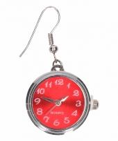 Carnavalskleding zilveren oorbellen rode klok chunk arnhem