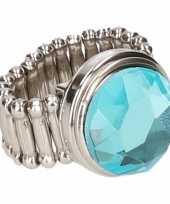 Carnavalskleding zilveren ring blauwe diamant chunk arnhem