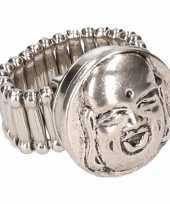 Carnavalskleding zilveren ring boeddha chunk arnhem
