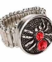 Carnavalskleding zilveren ring rode spin chunk arnhem