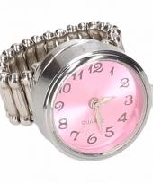 Carnavalskleding zilveren ring roze klok chunk arnhem
