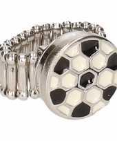 Carnavalskleding zilveren ring voetbal chunk arnhem