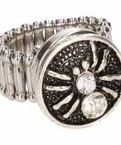 Carnavalskleding zilveren ring zilveren spin chunk arnhem