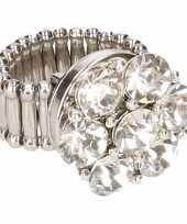 Carnavalskleding zilveren ring zilveren steentjes chunk arnhem