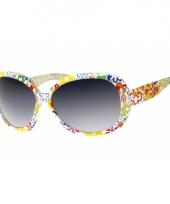 Carnavalskleding zonnebril retro bloemenprint arnhem