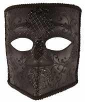 Carnavalskleding zwart bauta masker heren arnhem