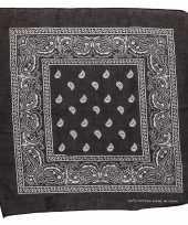 Carnavalskleding zwarte bandana zakdoek arnhem