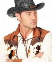 Carnavalskleding zwarte cowboyhoed stro arnhem