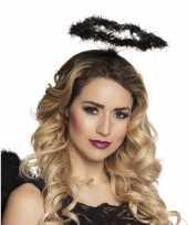 Carnavalskleding zwarte engel verkleed diadeem tiara halo arnhem