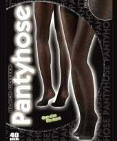 Carnavalskleding zwarte glitter panty denier arnhem