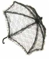 Carnavalskleding zwarte kanten bydemeyer paraplu arnhem