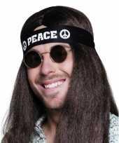 Carnavalskleding zwarte peace hoofdband volwassenen arnhem
