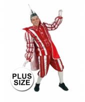 Grote maat prins carnaval carnavalskleding rood wit arnhem