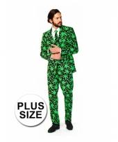 Grote maten carnavalskleding cannabis print arnhem
