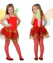 Vlinder carnavalskleding kinderen rood arnhem