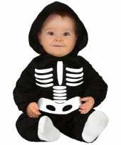 Zwart wit skelet verkleedcarnavalskleding baby peuter arnhem